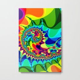 Abstract art print shaded effect multicolor psychedelic poster Metal Print