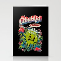 facebook Stationery Cards featuring CTHUL-AID by BeastWreck