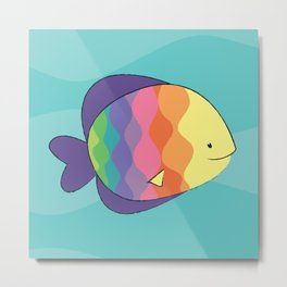 Rainbow Fishes Metal Print