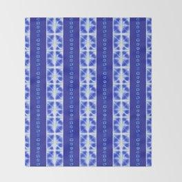 Shibori strips Throw Blanket