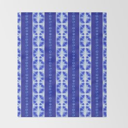 Shibori strips Throw Blanket