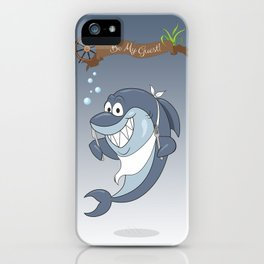 Cartoon Shark iPhone Case