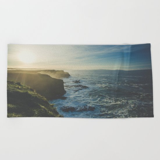 Cliffside Morning Beach Towel
