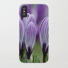 Purple Crocus iPhone X Slim Case