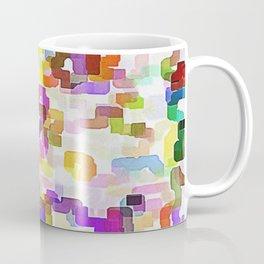 Crowd on the beach, Pattern Coffee Mug