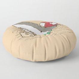 Sandy Beach Shark Floor Pillow