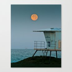 Huntington Beach Super Moon   7/12/14 Canvas Print