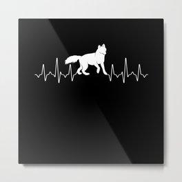 Fox Heartbeat Metal Print