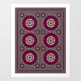 Central Asian Pattern Art Print