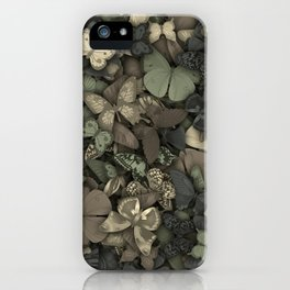 Butterflies camouflage iPhone Case