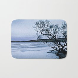 Frozen Lake Bath Mat