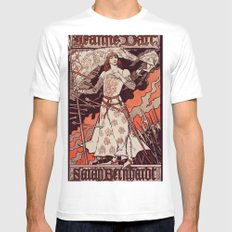 Joan of Arc MEDIUM White Mens Fitted Tee