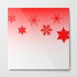Red Christmas Decorations Metal Print