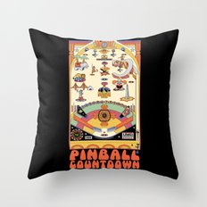 Pinball Countdown 1,2,3,4,5,6,7,8,9,10,11,12 Throw Pillow