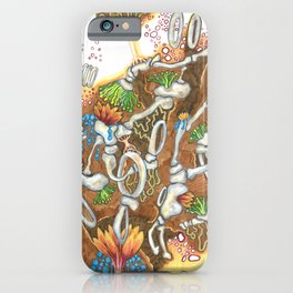 Underneath, are gardens too (brown) iPhone Case