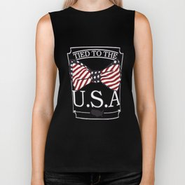Tied to the USA Fourth of July T-shirt Biker Tank