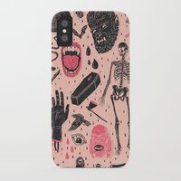 blood iPhone & iPod Cases featuring Whole Lotta Horror by Josh Ln