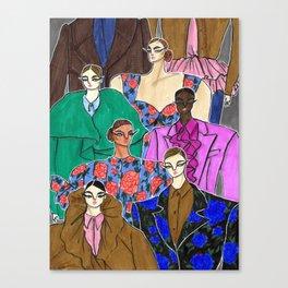 Delpozo Girls in Fall 2019 – Original Fashion art, Fashion Illustration, Fashion wall art Canvas Print