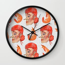 Prawn Lady Wall Clock