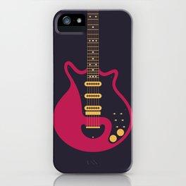 Glam Rock 70s Electric Guitar - Black iPhone Case
