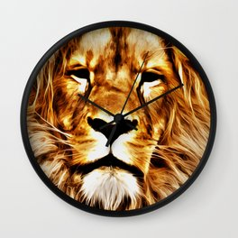 Lion Portrait Wall Clock