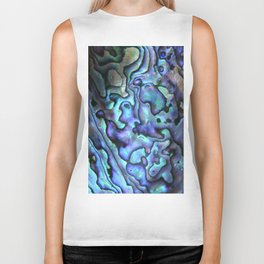 Deep Purple Abalone Shell Biker Tank