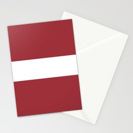 Flag of Latvia Stationery Cards