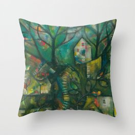 In the Deep Woods Throw Pillow