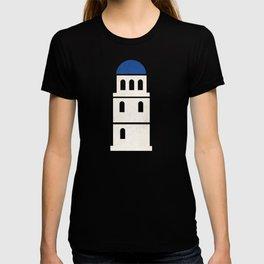 Santorini - Minimalist Board Games 01 T-shirt