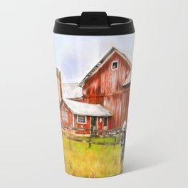 Little Boy on the Farm Travel Mug