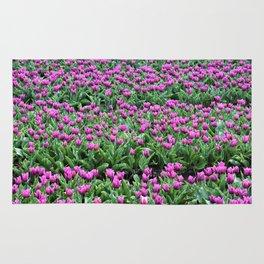 Purple tulips Rug