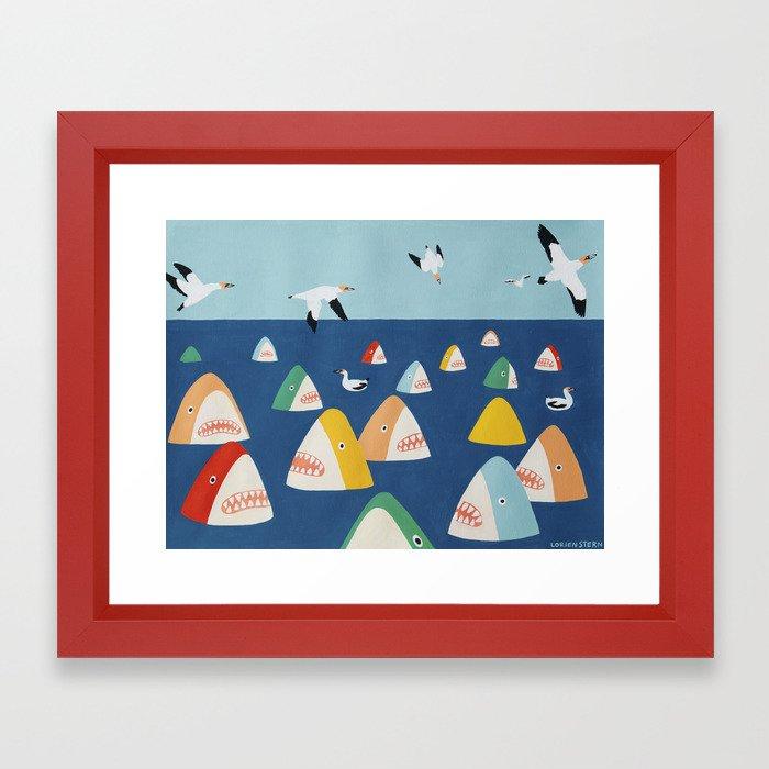 Shark Park Framed Art Print