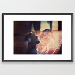 Billy Sad Eyes Framed Art Print