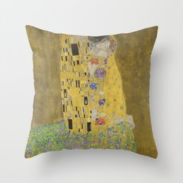 The Kiss by Gustav Klimt Throw Pillow
