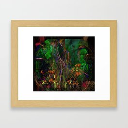 Alien Flowers Framed Art Print
