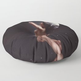 THE MOON NYMPH - LUIS RICARDO FALERO Floor Pillow