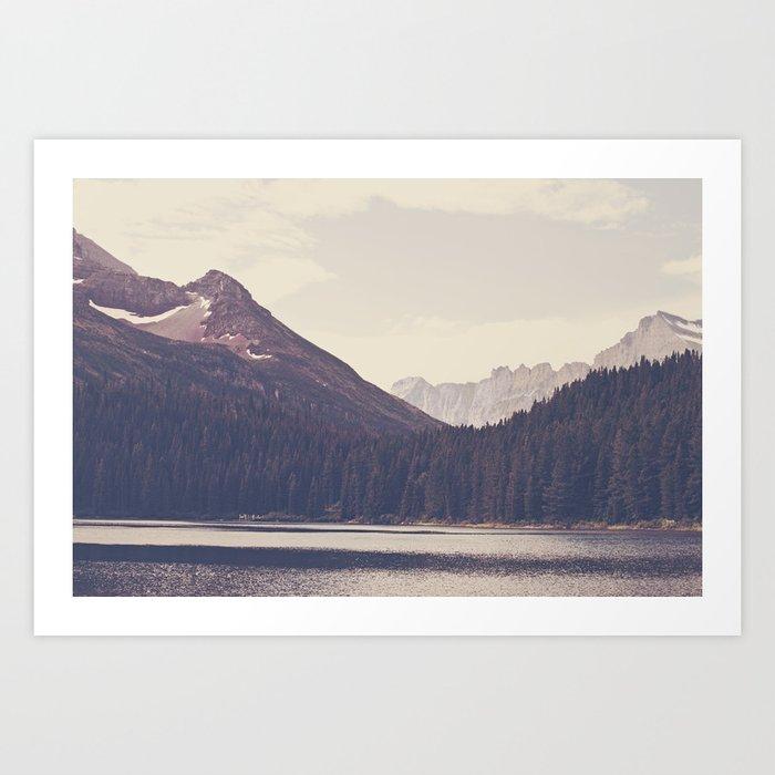 Morning Mountain Lake Art Print