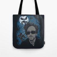 tim burton Tote Bags featuring Burton´s Universe by 2mzdesign