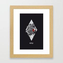 LIVE WILD DIE FREE Black Framed Art Print