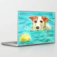 jack russell Laptop & iPad Skins featuring Jack Russell Terrier by gretzky