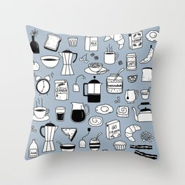 Breakfast Things Throw Pillow