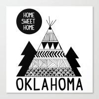oklahoma Canvas Prints featuring Oklahoma by Ashley Love
