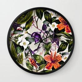 Vibrant botanic Wall Clock
