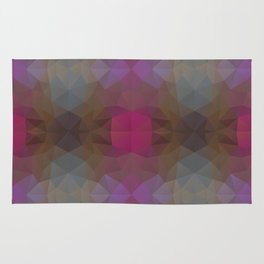 Mozaic design in pink colors Rug