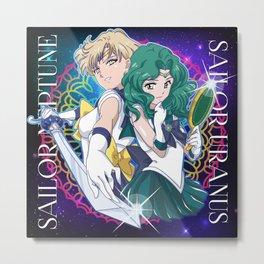 Sailor Neptune & Uranus Metal Print