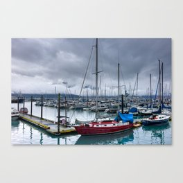 The Alaskan Small Red Boat Canvas Print