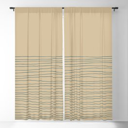 Hand Striped and Sea Blackout Curtain