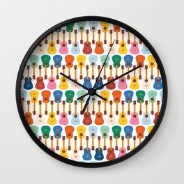 Colorful Guitars Wall Clock