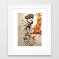 irish Framed Art Prints featuring Irish by shugmonkey