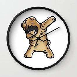 Funny Dabbing Shar Pei Dog Dab Dance Wall Clock